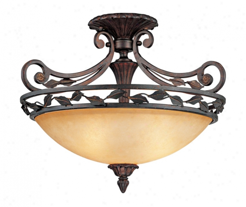 "Scavo Leaf And Vine Bronze 21"" Wide Ceiling Light Fixture (09710)"