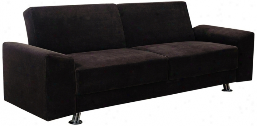 Scone Chocolate Velour Klik Klak Sofa Bed (w1325)