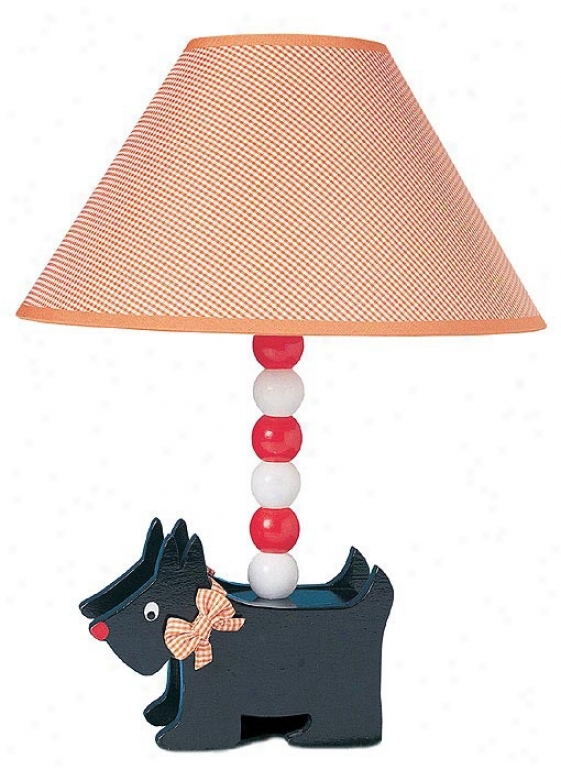 Scottish Terrier Puppy Dog Table Lamp (06069)