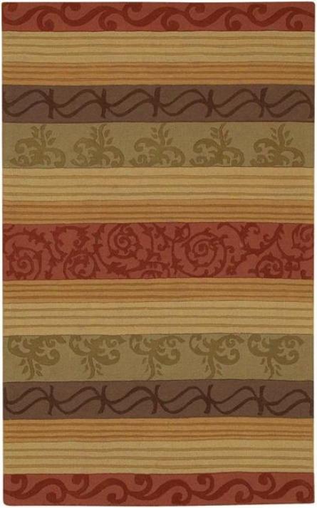 Scroll Stripes Multi Rug (17128)