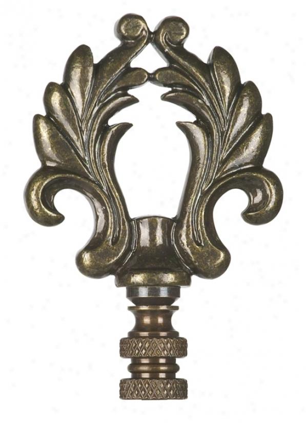 Scrolled Loop Lamp Shade Finial (33192)