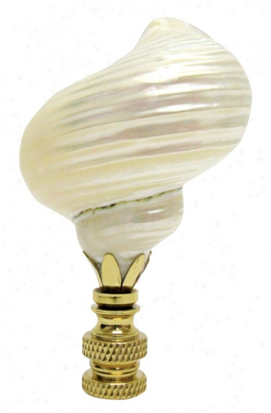 Sea Shell Accent Finial (08577)
