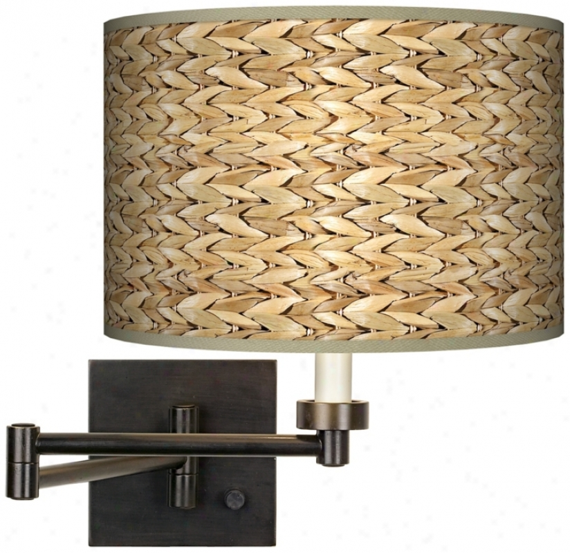 Seagrass Giclee Bronze Swing Prepare Wall Light (h6553-n5250)