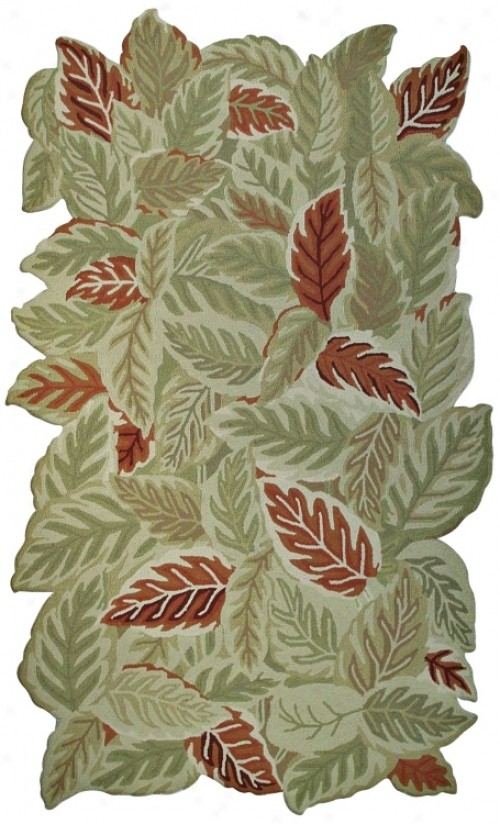 September Leaves Indoor Outdoor 8'x 11' Rug (k0116)