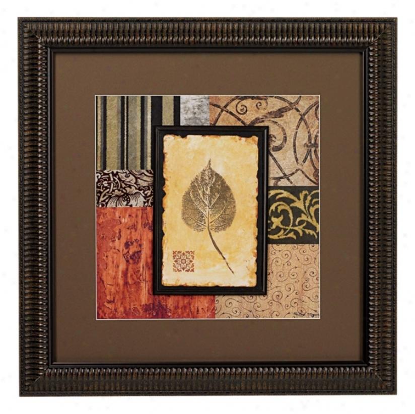 September Leaves Transitional I Framed Wall Art (k4919)