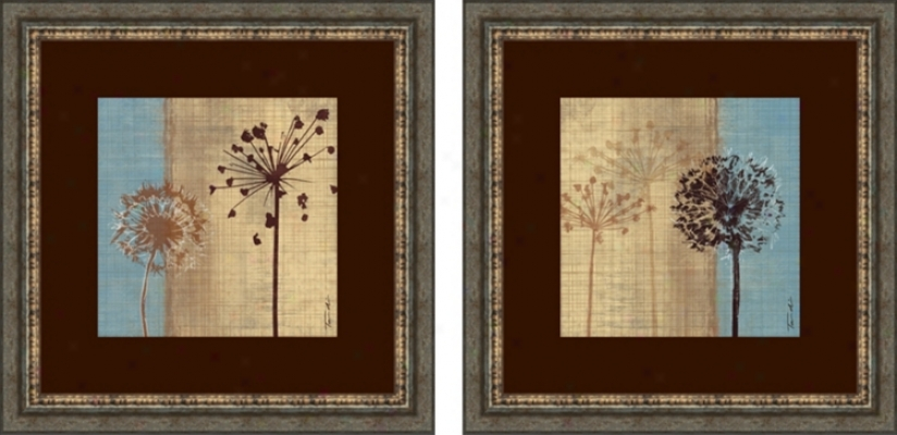 Set Of 2 In The Breeze Wall Art Prints (f5422)