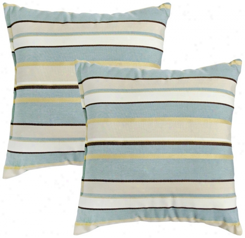 Set Of 2 Spa Wale Outdoor Accent Pillows (w6229)
