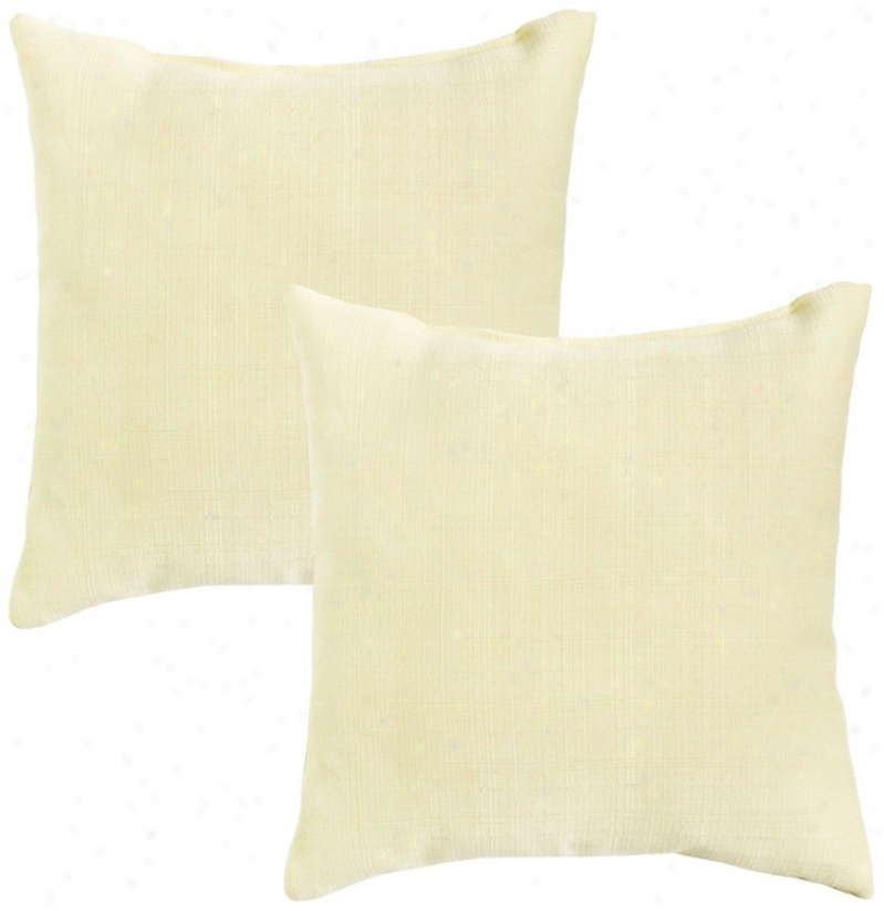 Set Of 2 Tan Outdoor Accent Pillows (w6234)