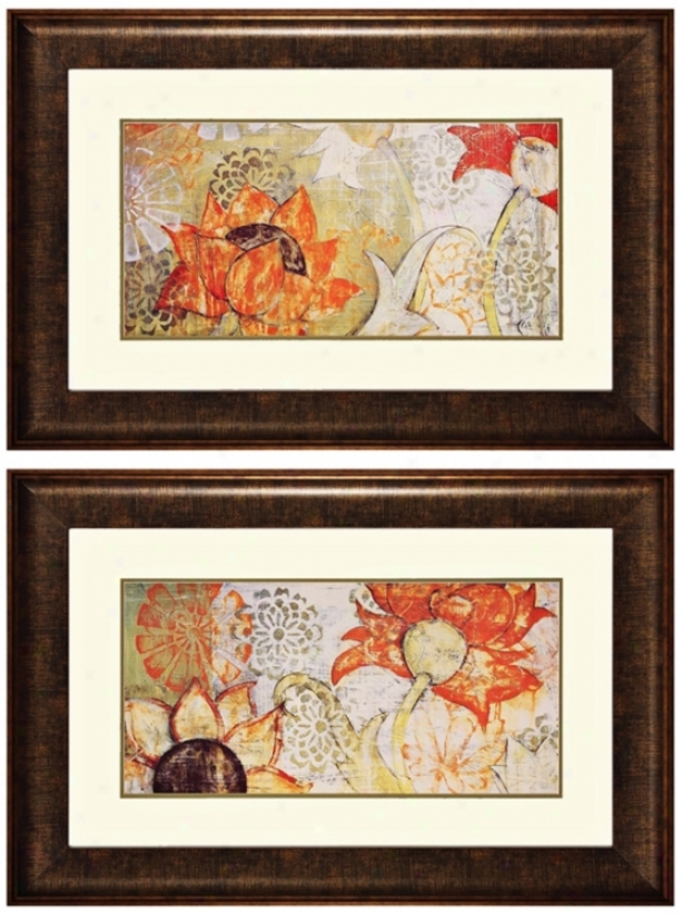 Set Of 2 Thai Spice I And Ii Frames Wall Art (k2711)