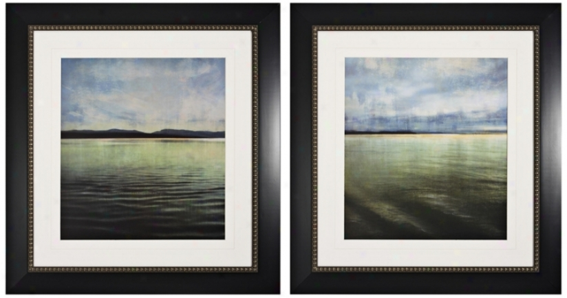 Set Of 2 Tranquil I And Ii Framed Wall Art (k1977)