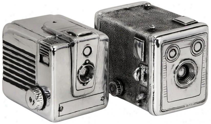Set Of 2 Vintage Camera Boxes (n1294)