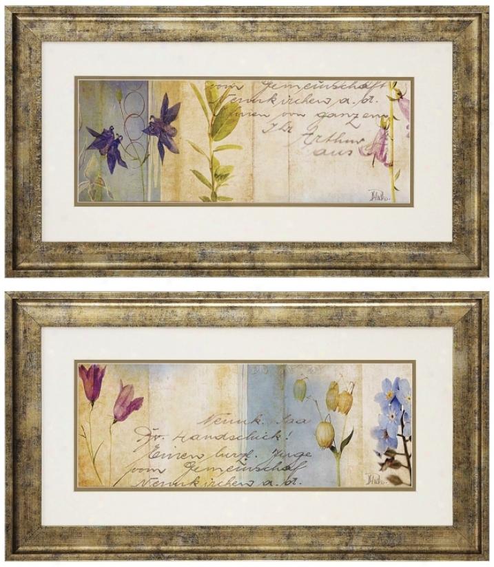 Set Of 2 Wildflower Prints I And Ii Wall Art (n3118)
