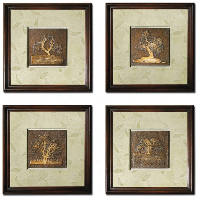 Attitude Of 4 Pembroke Wall Art Panels (m0499)
