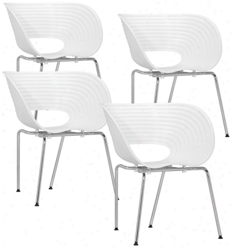 Set Of 4 Zuo Circle Happy Chairs (t2392)