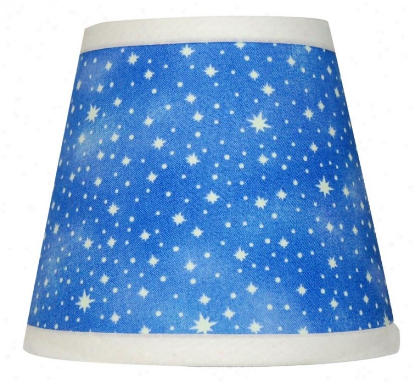 Set Of 6 Glow In Dark Stars Shsdes 4x6x5.25 (clip-on) (p9550)