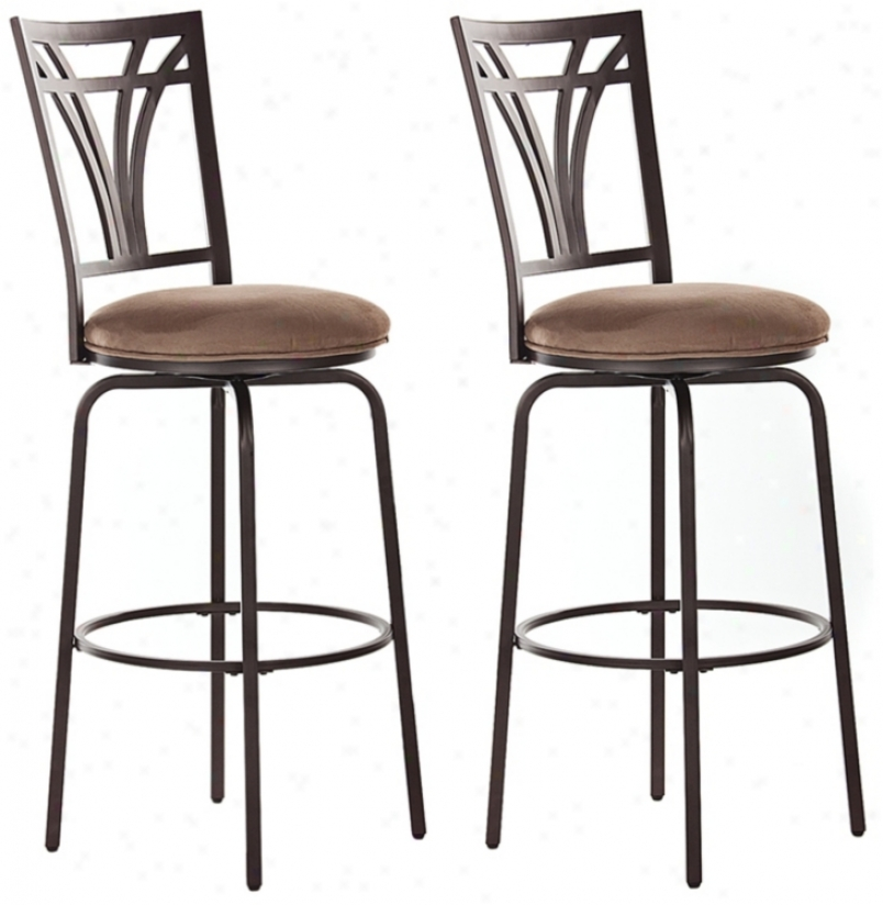 "Set Of Two - Arbor 26"" Profoundly Reckoner Stool (n0793)"