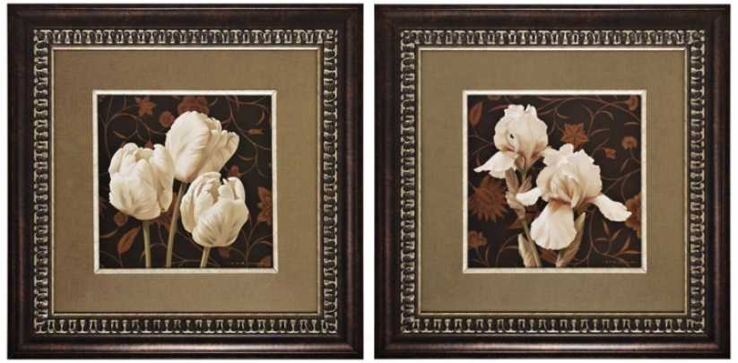 Set Of Two Elegante Ii & Iii Framed Wall Art (k2742)