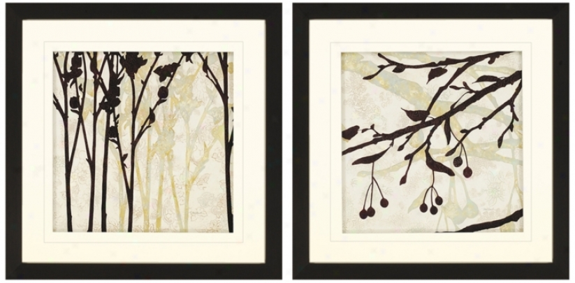 Set Of Two Essential Elementss Ii Framed Wall Art (n7948)