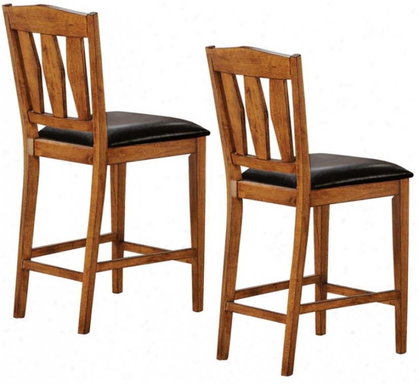 Set Of Two Harbine Collection Counter Height Dining Chairs (p3914)