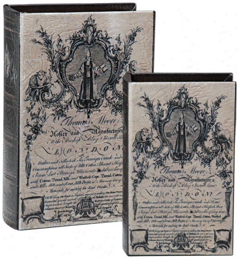 Set Of Pair Histori Poster Book Boxes (m1592)