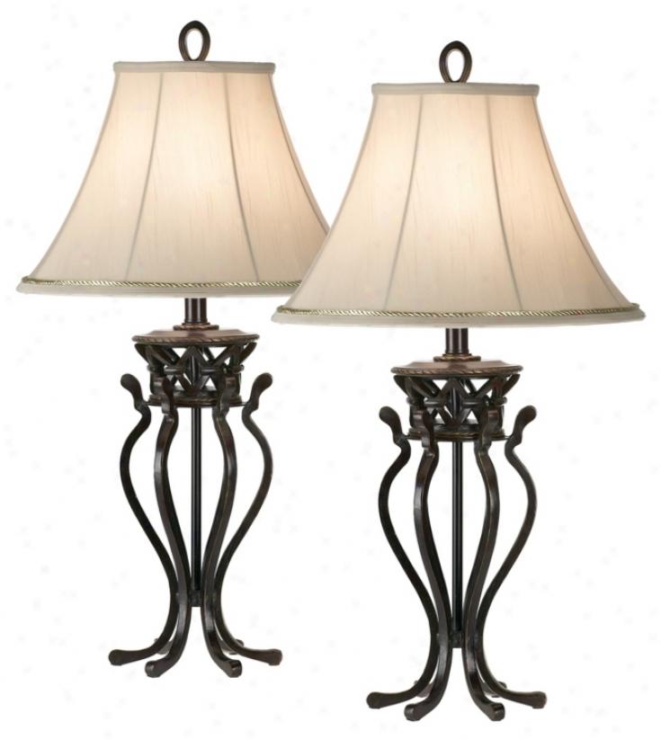 Set Of Two Katny Ireland Helsinki Palace Table Lamps (01112)