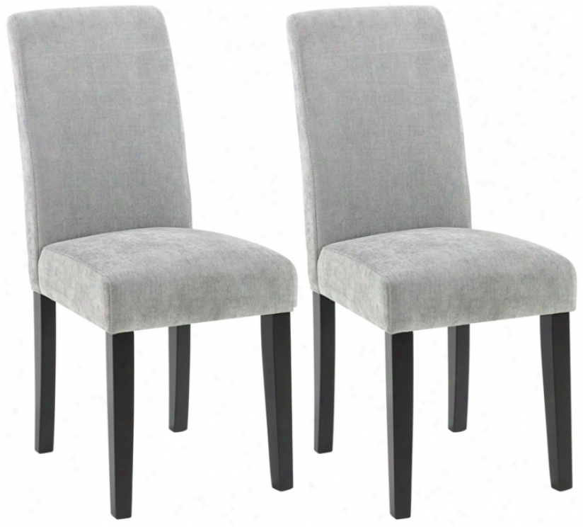 Set Of Two Versa Dining Chairs-lagoon (t3993)