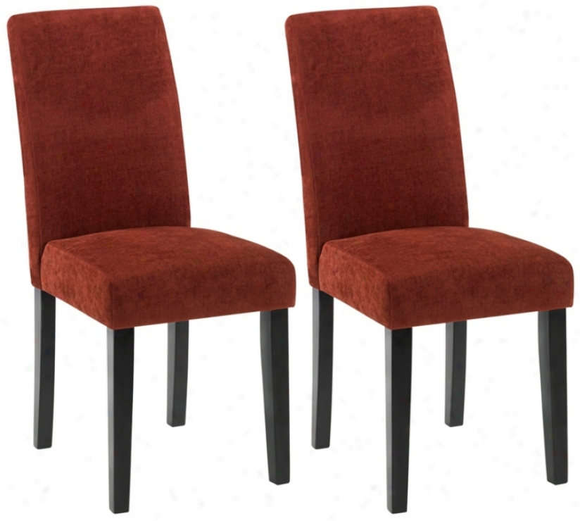 Set Of Two Versa Dining Chairs-pimento (t3995)