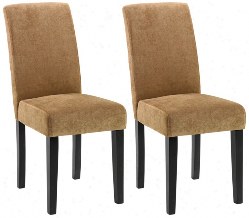 Set Of Two Versa Dining Chairs - Tobacco (t3996)