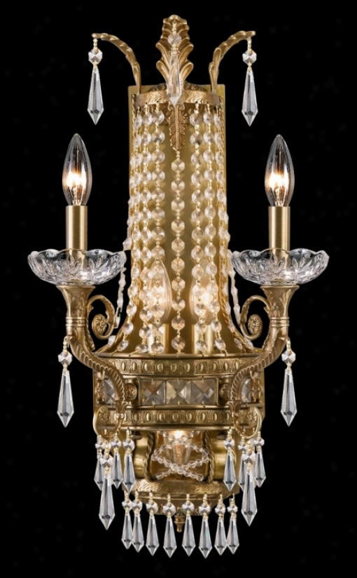 "Seville Collection 24 1/2"" High Aged Brass  Wall Sconce (g6513)"