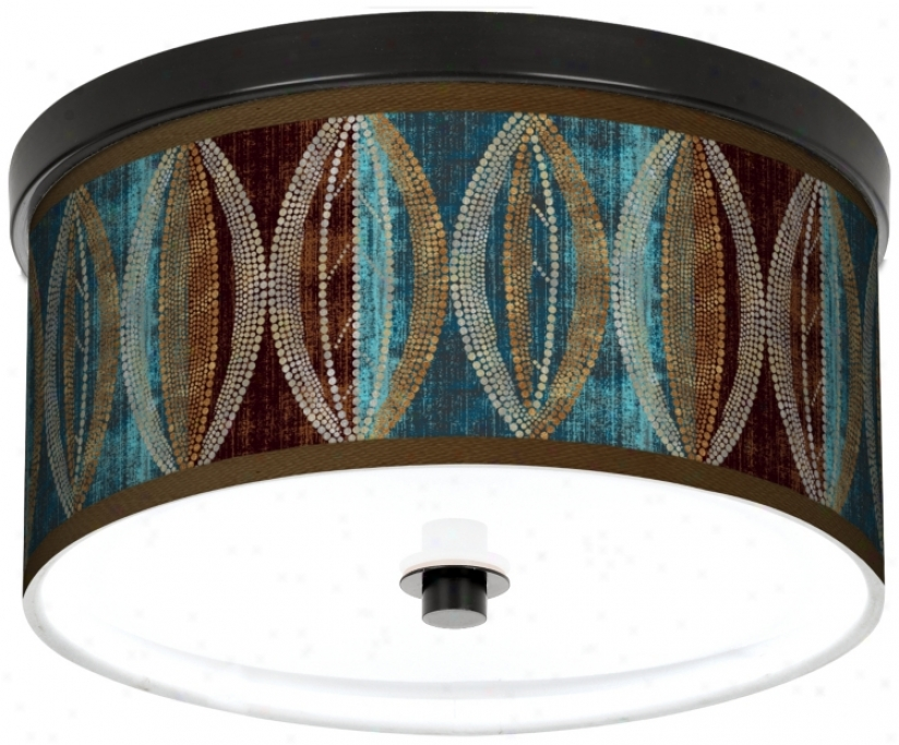 "Sg Pearl Leaf Peacock Bronze 10 1/4"" Remote Ceiling Light (k2833-n8173)"