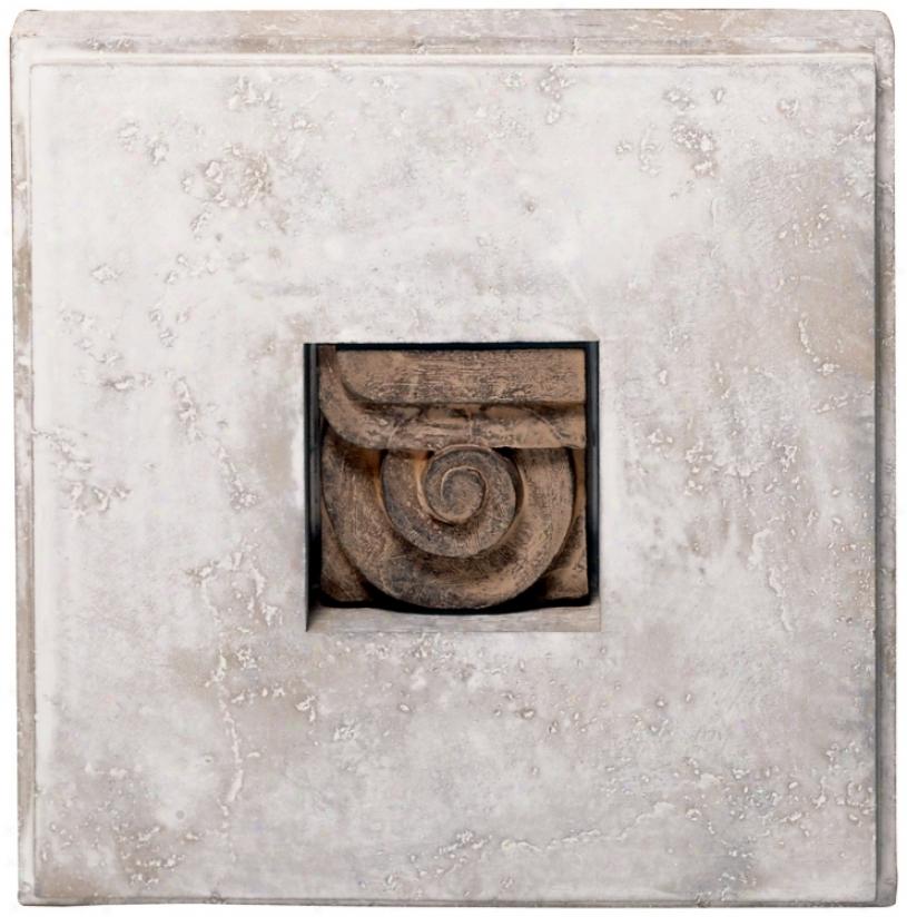 Shadow Box I Faux Stone Finish Wall Art (m0170)