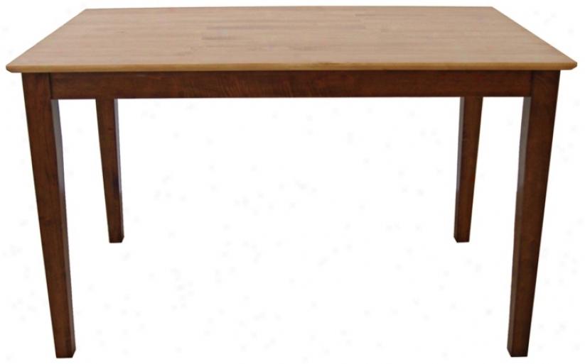 Shaker Cinnamon And Espresso Solid Wood Dining Table (u4219)