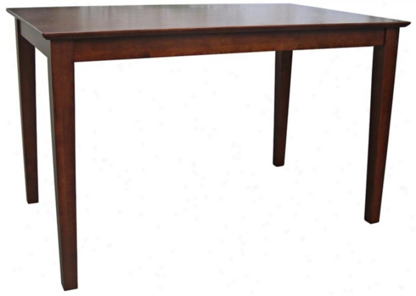 Shaker Style Cottage Oak Solid Wood Dining Table (u4189)