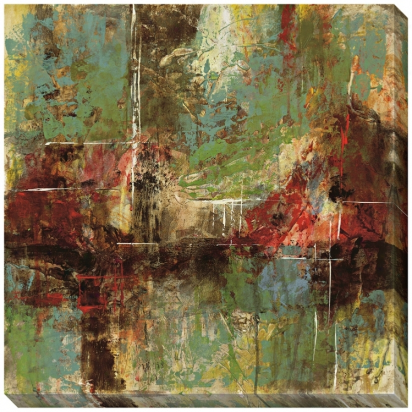 """Shaping Matter I Giclee Indoor/outdoor 40"""" Square Wall Art (l0380)"""
