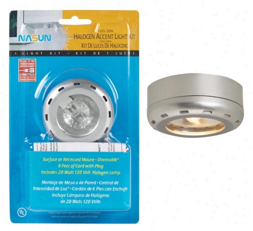 Silver Finish Halogen 20 Watt Single Puck Light Kit (86340)
