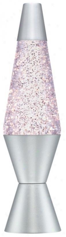 Silver Glitter Lava®  Lamp (00086)