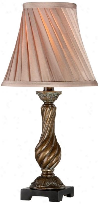 Silver Leaf Swirl Accejt Lamp (u5241)