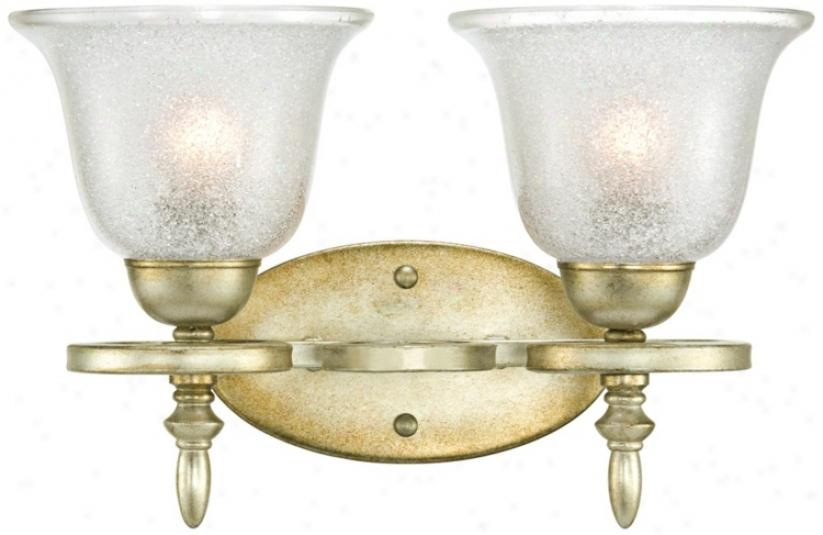 """Silver Swirl 10 3/4"""" Wide Bathroom Light Fixture (t3938)"""
