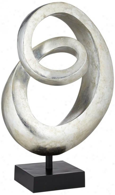 Silverleaf Spiral Sculpture (v2688)