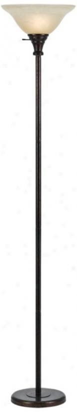 Skyler Rust Torchiere Floor Lamp (w1868)
