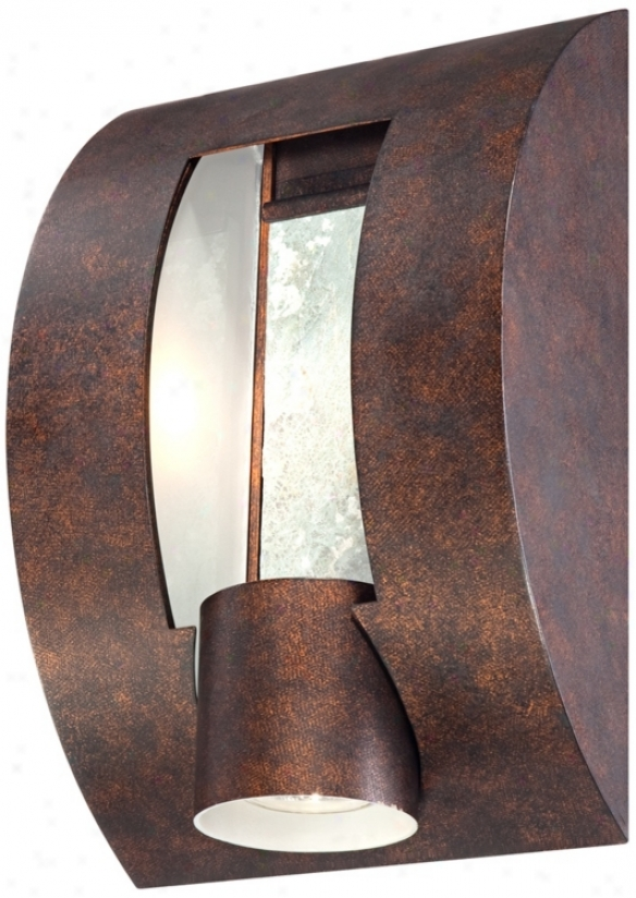 "Slate Bronze Ada Compliant 12"" High Outdoor Wall Light (u9257)"