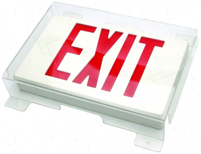 Slim Protective Shield For Exit Signs (64155)