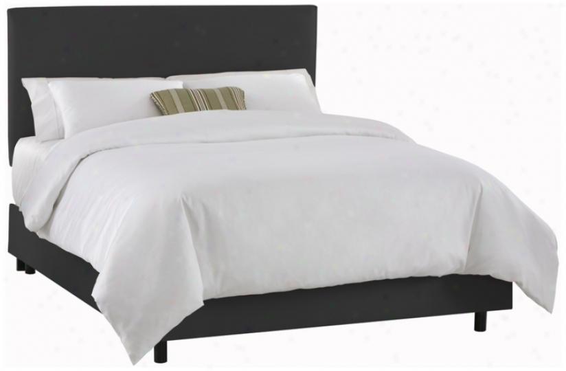 Slipcover Black Microsuede Bed (king) (p2416)