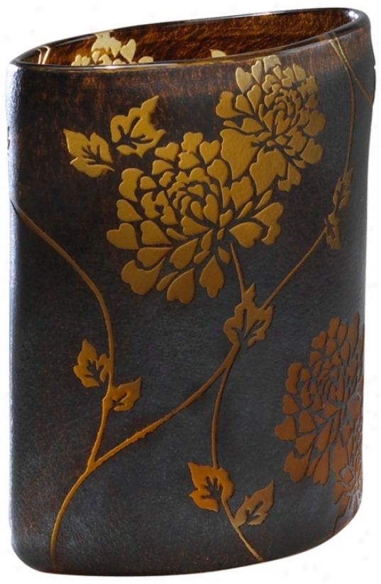 Small Brown Rafaella Vase( r0688)