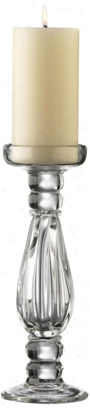 Small Clear Gkass Candleholder (h9917)