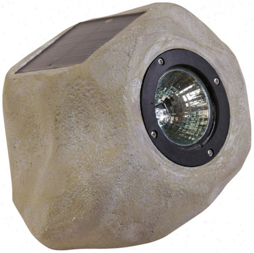Small Faux Rock Solar Led Outdoor Accent Light (41256)