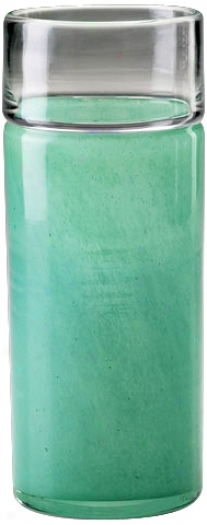 Small Seafoam Green Glass Caribbean Vase (n7128)