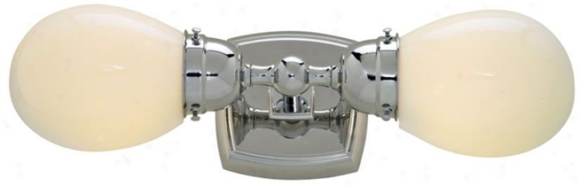 "Soft Square 17 3/4"" Wide Chrome Doubling Light Fixture (87757)"