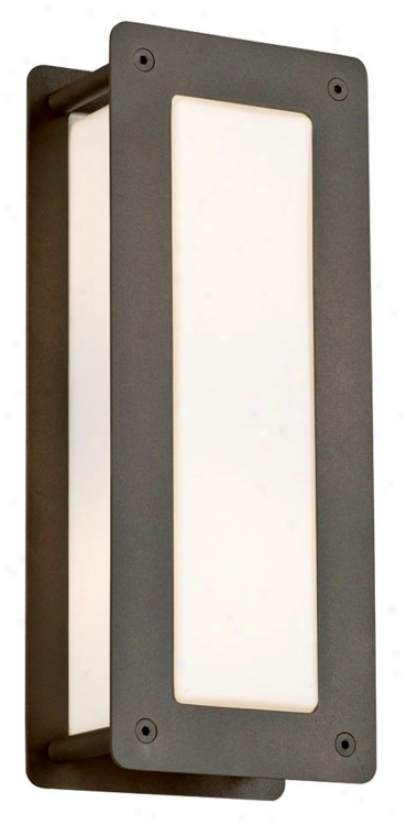 "Soho Collection Bronze 15"" High Outdoor Wall Light (l0319)"