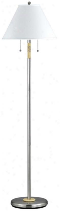 Soho Collection Nickel Finish Double Pull Floor Lampp (93220)